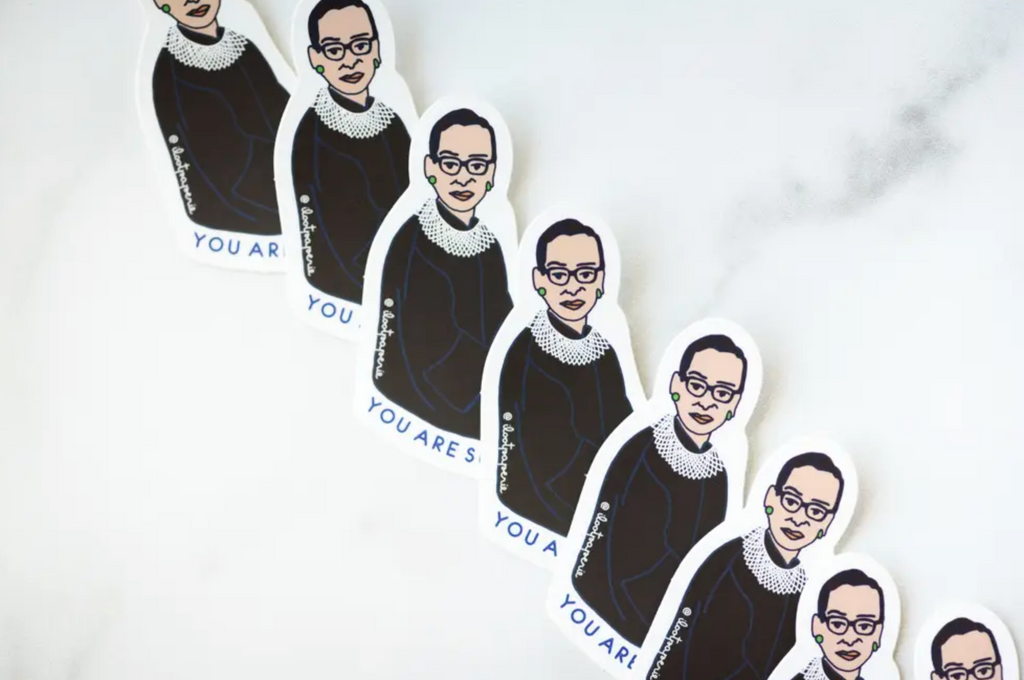 Ruth Bader Ginsburg RBG and Girls Can Can Can Sticker Set