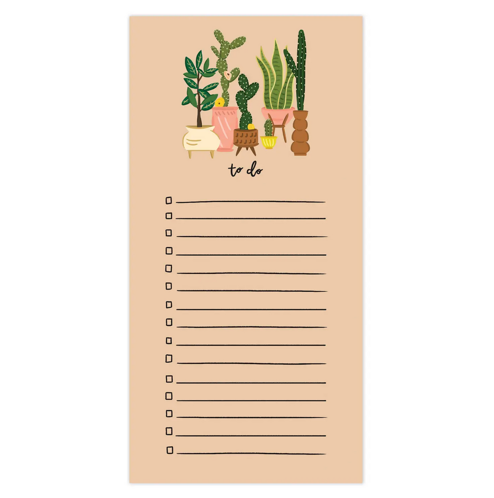 Tall Plants To Do Notepad w/magnet