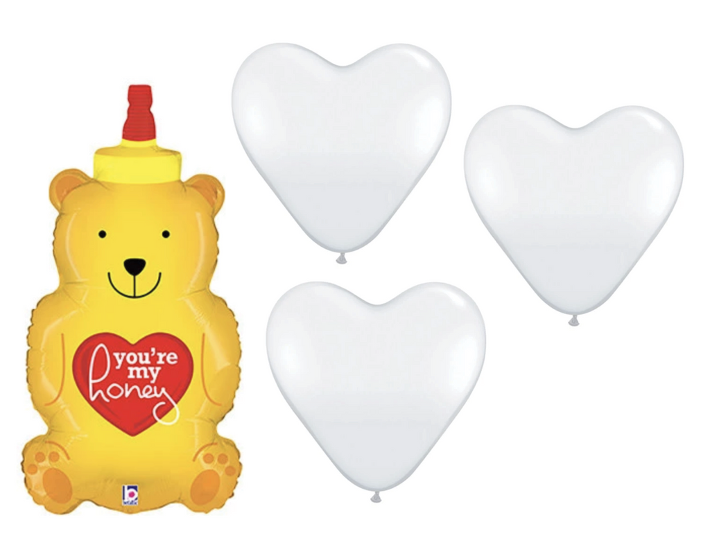 Honey Balloon Bouquet w/Helium (LOCAL ONLY)