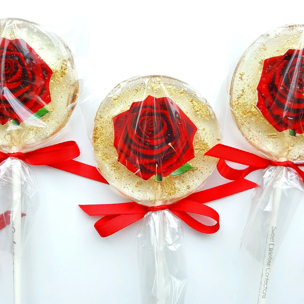 Red Rose Lollipop - Strawberry