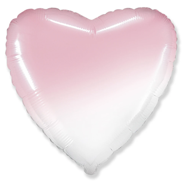 "18"" Ombre Pink Heart Foil"