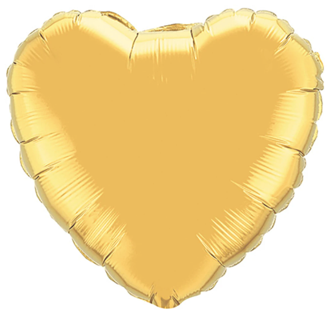 "18"" Metallic Gold Foil Heart"