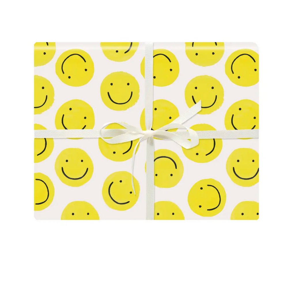 Smiley Gift Wrap Single Sheet