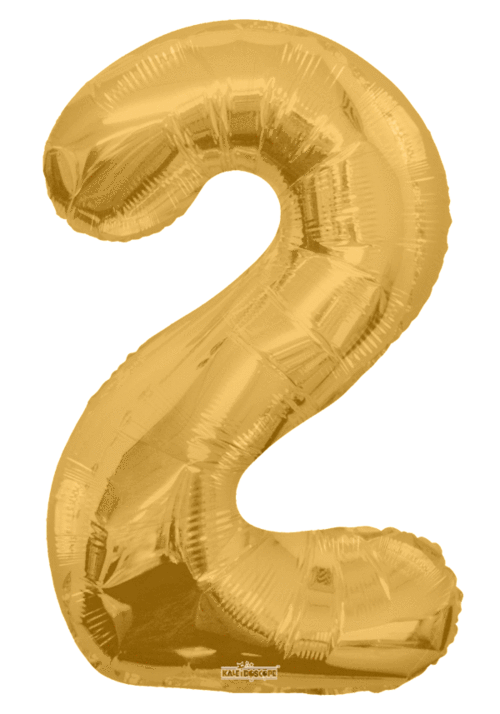 "34"" Jumbo Gold Number Two ""2"" Foil Balloon"