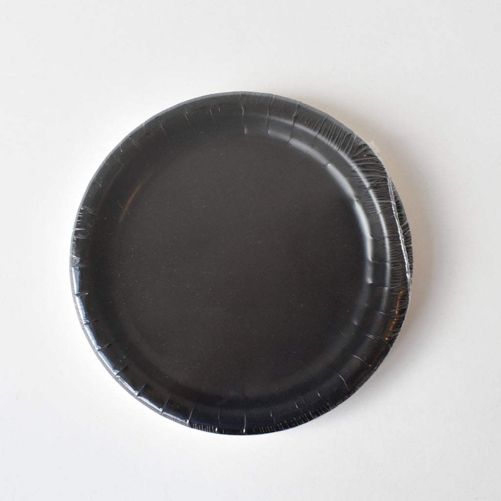Black 7-inch Party Paper Plates