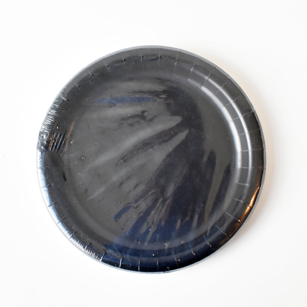 Black 9-inch Party Paper Plates