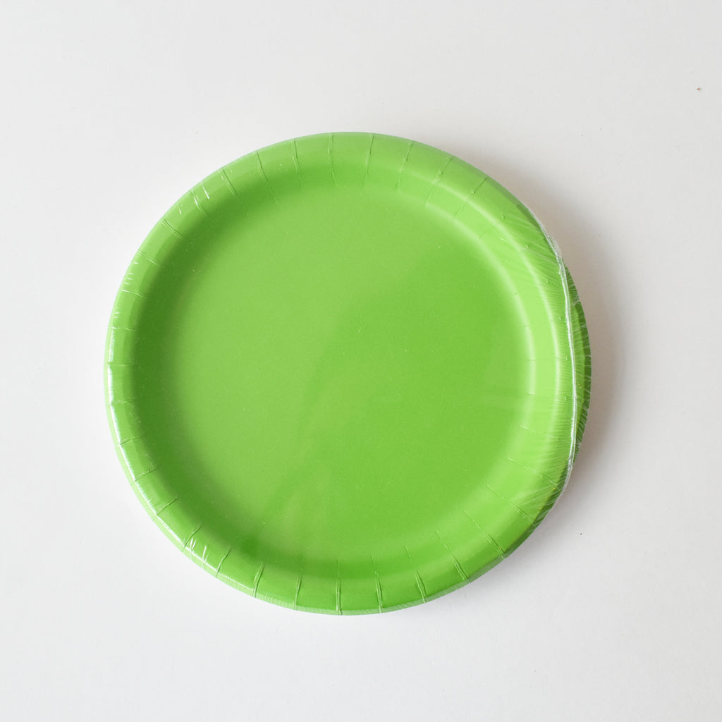 Lime 9-inch Party Paper Plates