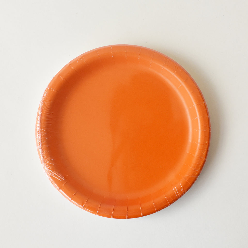 Orange 7-inch Party Paper Plates