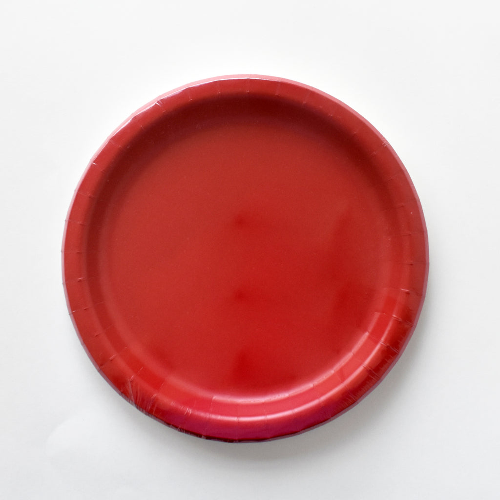 Red 9-inch Party Paper Plates