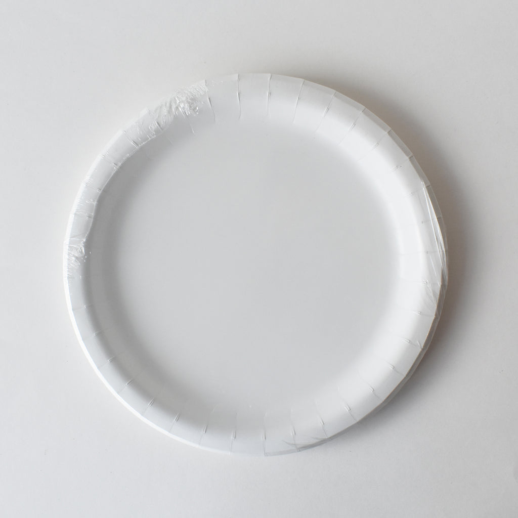 White 9-inch Party Paper Plates
