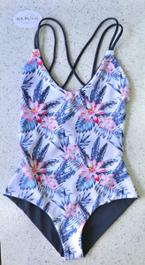 FULL COVERAGE REVERSIBLE ONE-PIECE - PARADISE