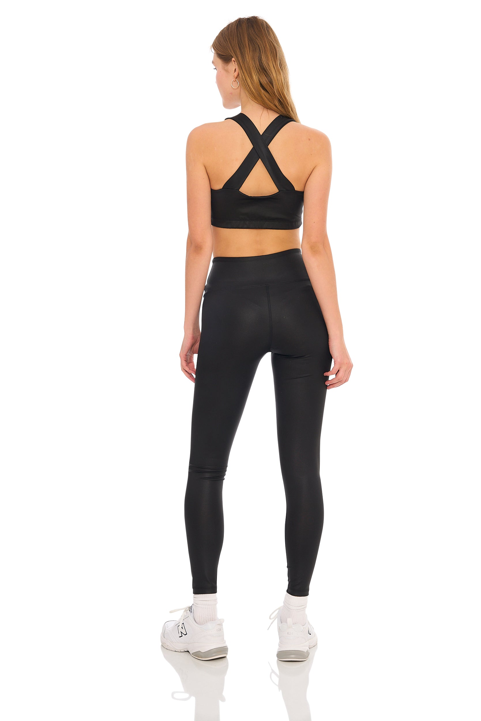 Black Shine YOS Sport Leggings