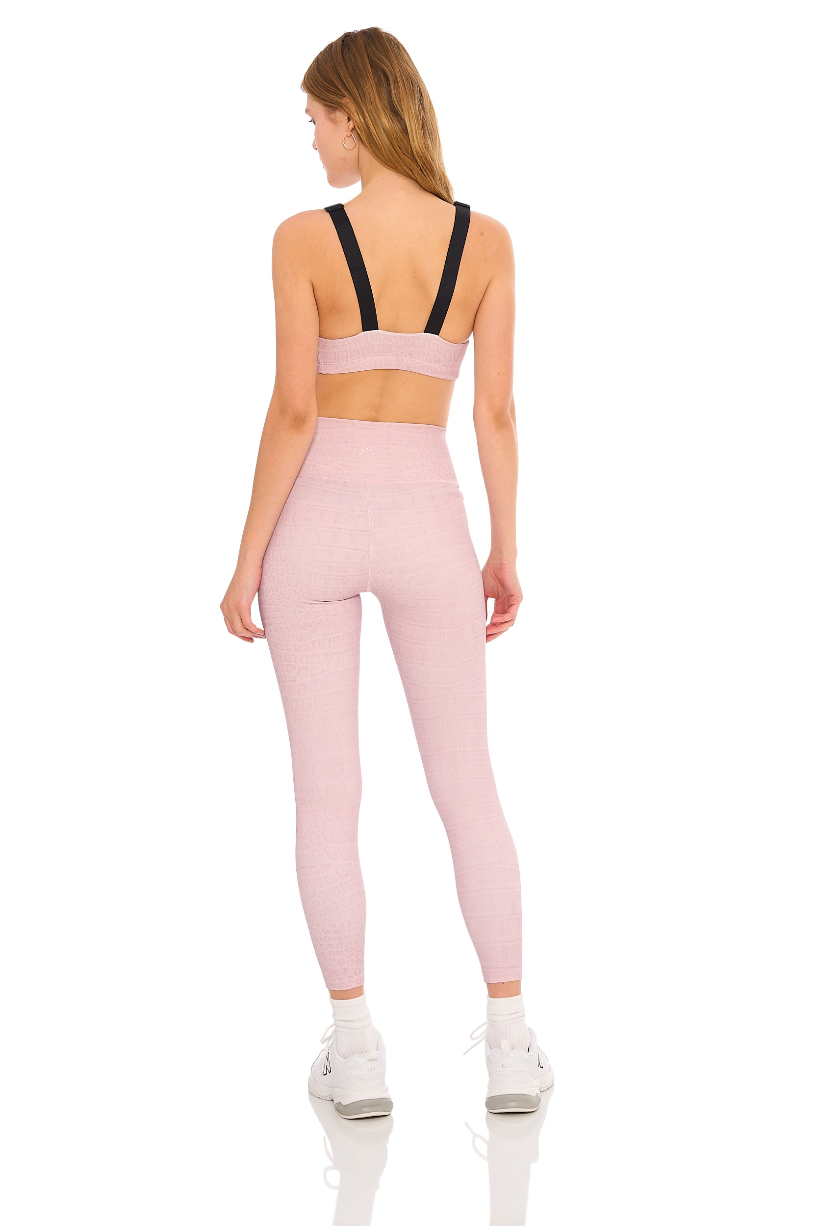 "Luna Legging (25"")- Blush-Croc"