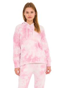 Load image into Gallery viewer, Work It Out Hoodie- Pink Tie Dye