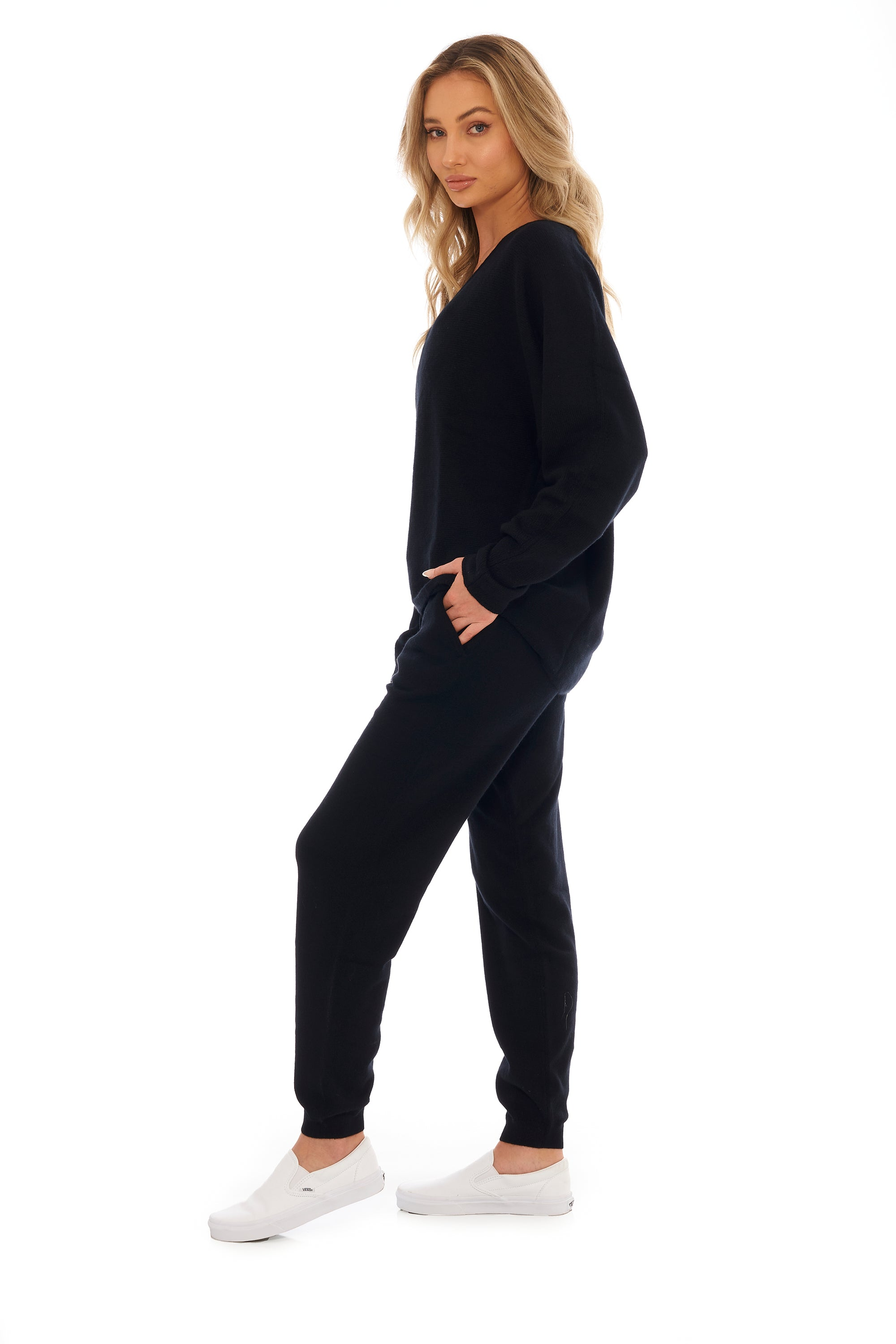 Ink Black Cashmere Sweater