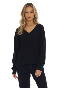 Load image into Gallery viewer, Ink Black Cashmere Sweater