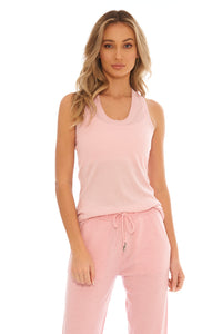 Load image into Gallery viewer, Bubblegum Cashmere Tank Top
