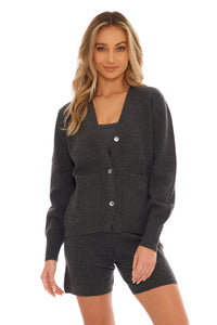 Load image into Gallery viewer, Slate Cashmere Cardigan
