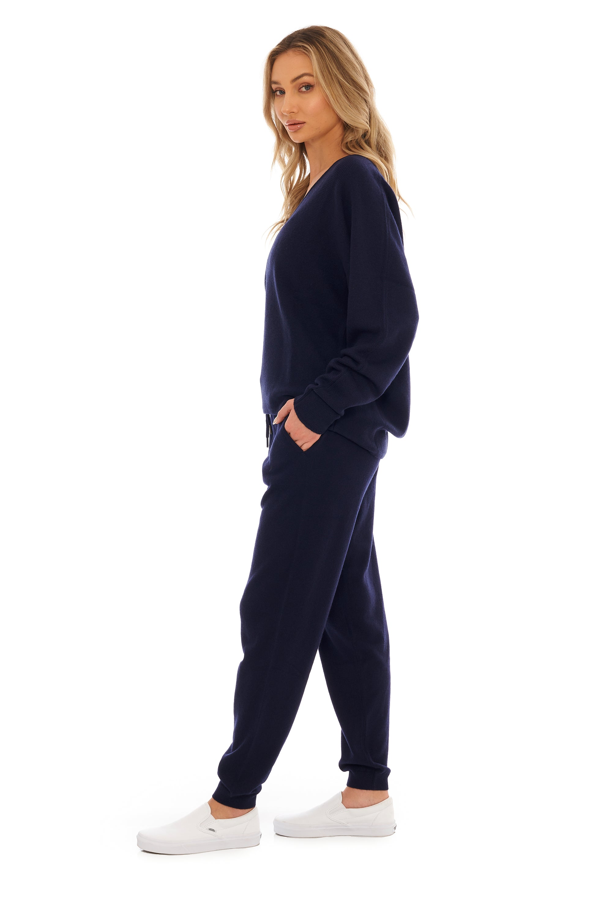 Midnight Blue Cashmere Jogger
