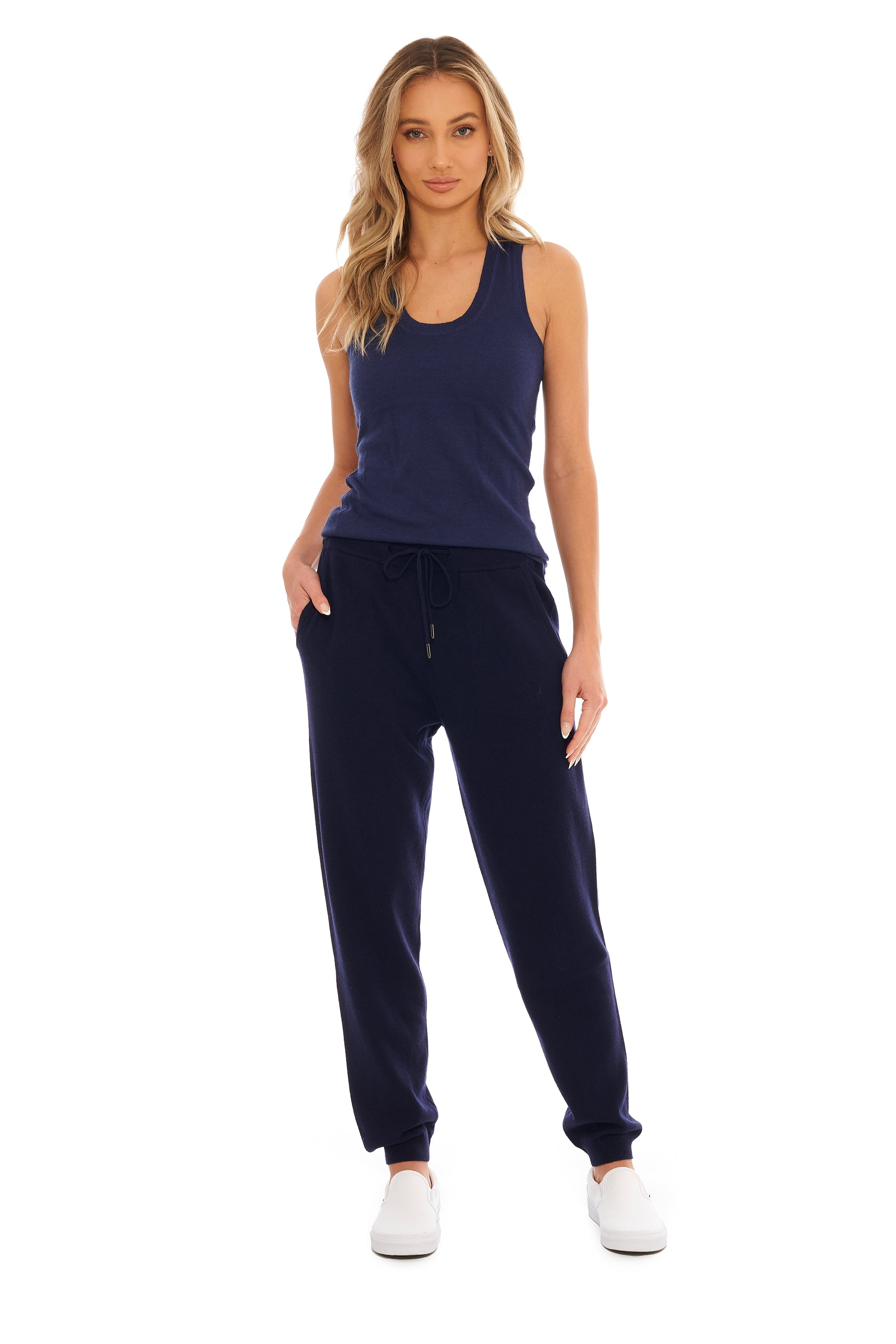 Midnight Blue Cashmere Tank Top