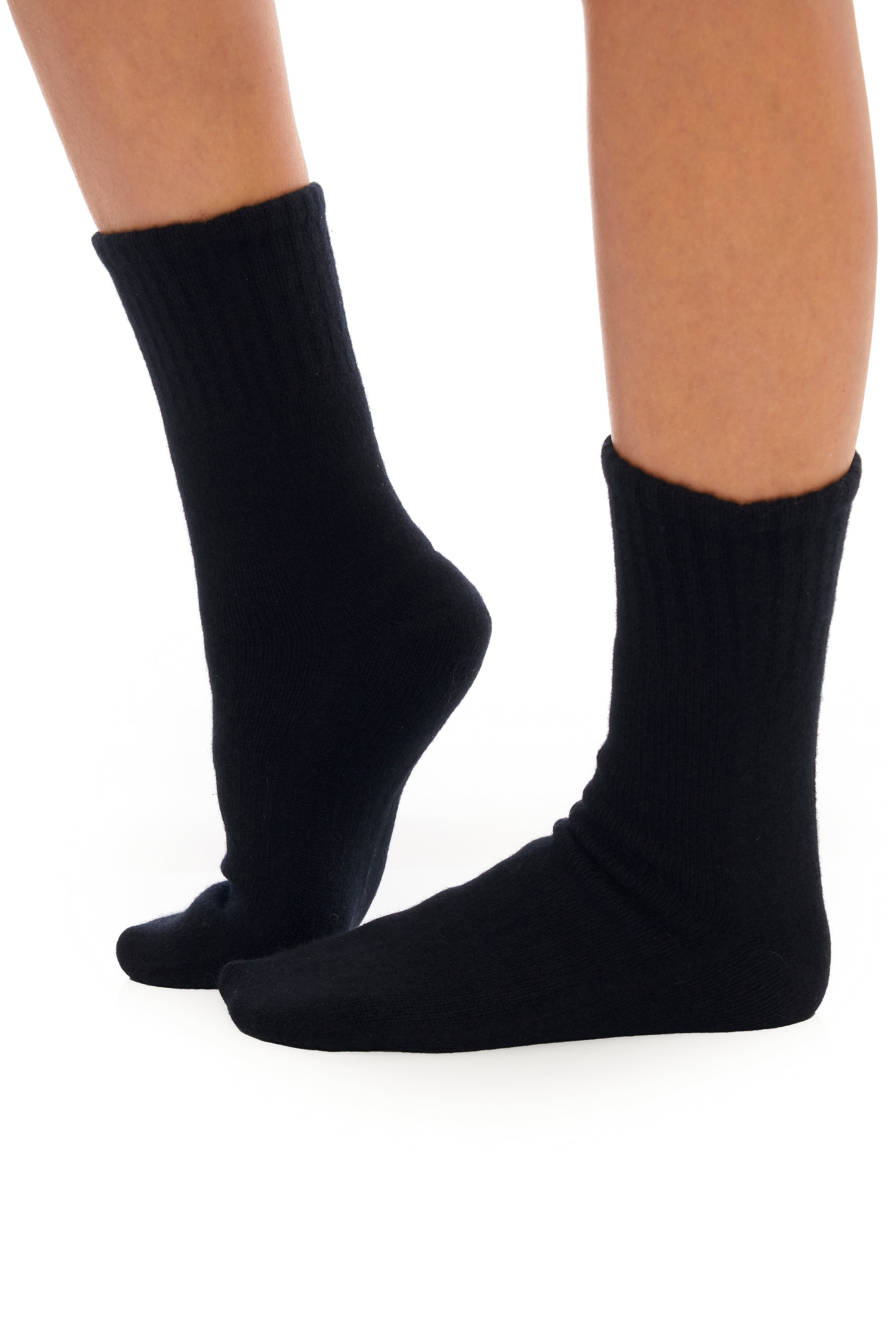 Ink Black Cashmere Socks