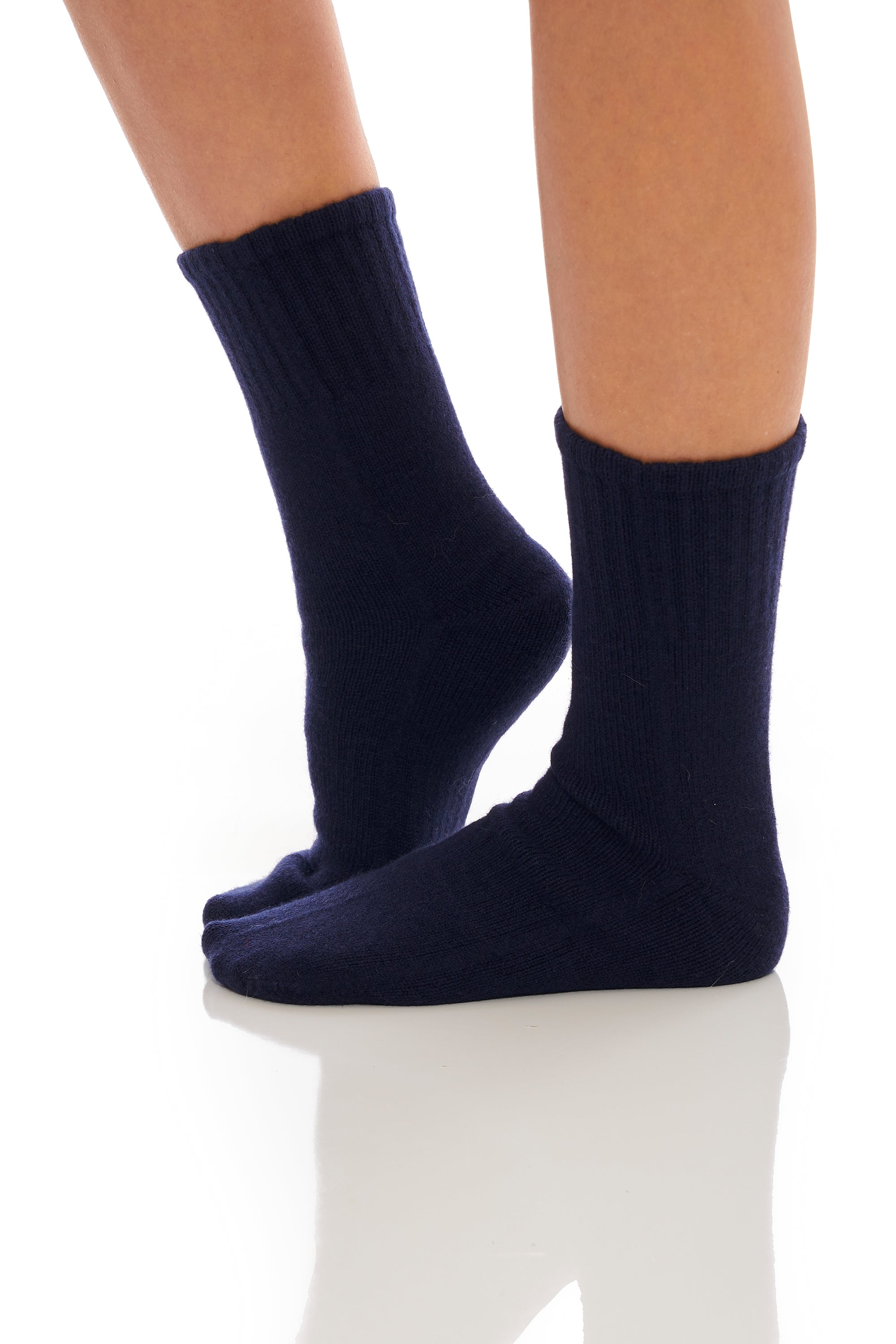 Midnight Blue Cashmere Socks