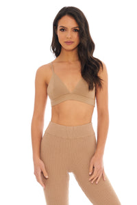 Load image into Gallery viewer, Classic Beige Ribbed Bralette