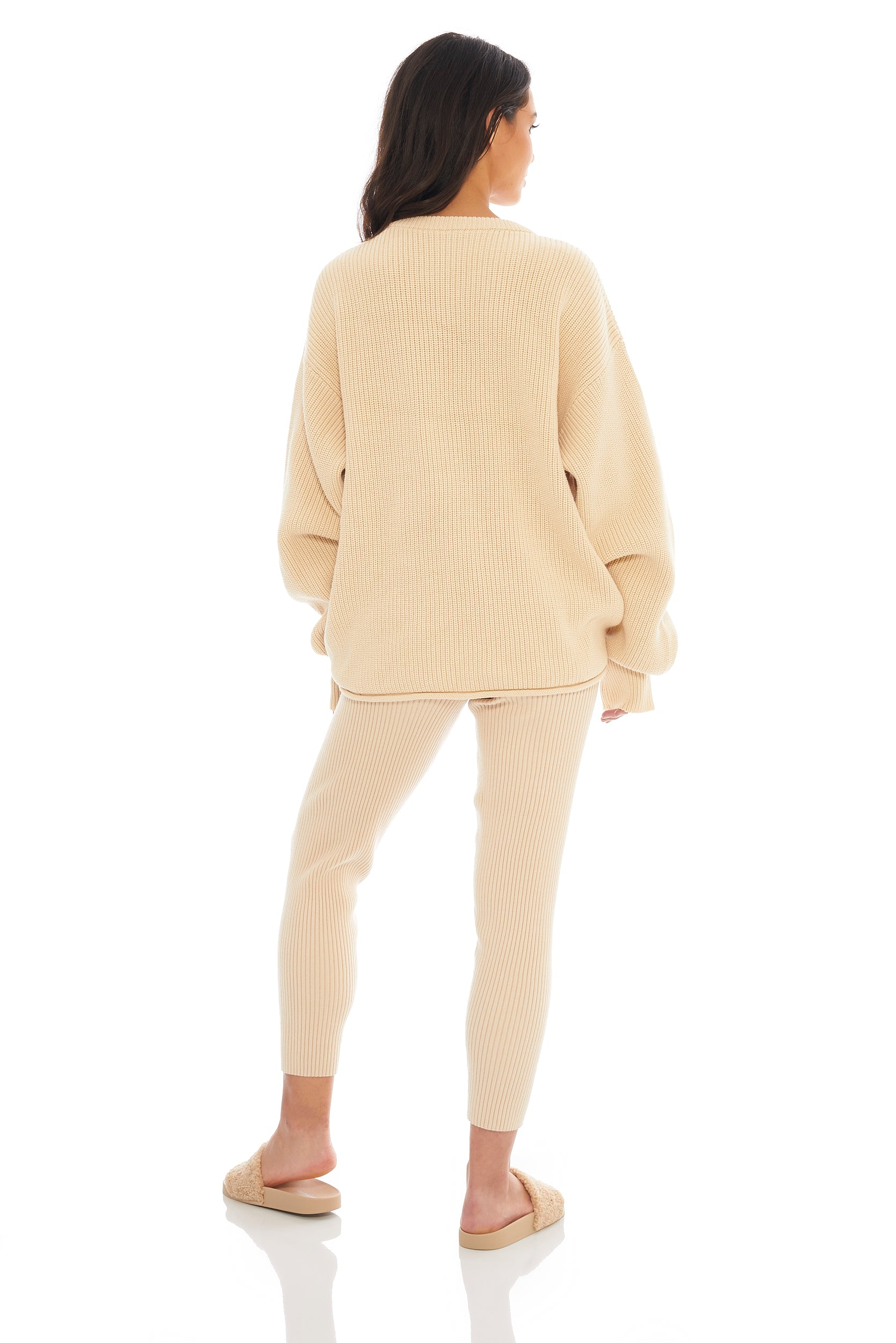 Classic Cream Ribbed Sweater