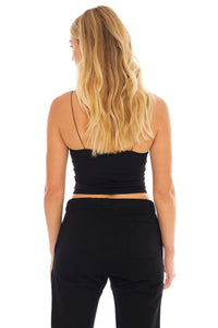 Load image into Gallery viewer, Skinny Strap Brami Top- Black
