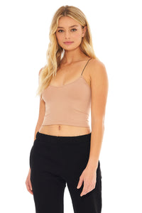 Load image into Gallery viewer, Skinny Strap Brami Top- Natural