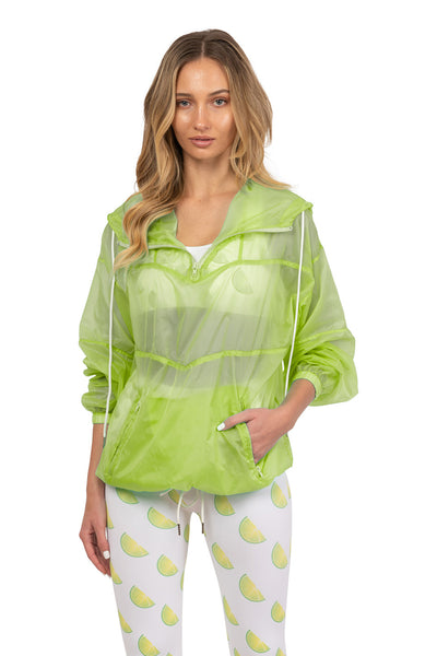 Lime Windbreaker