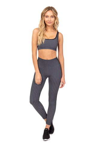 Noir Pin Stripe Sports Bra