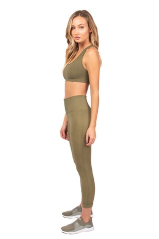 Sage Olive Cross Back Bra
