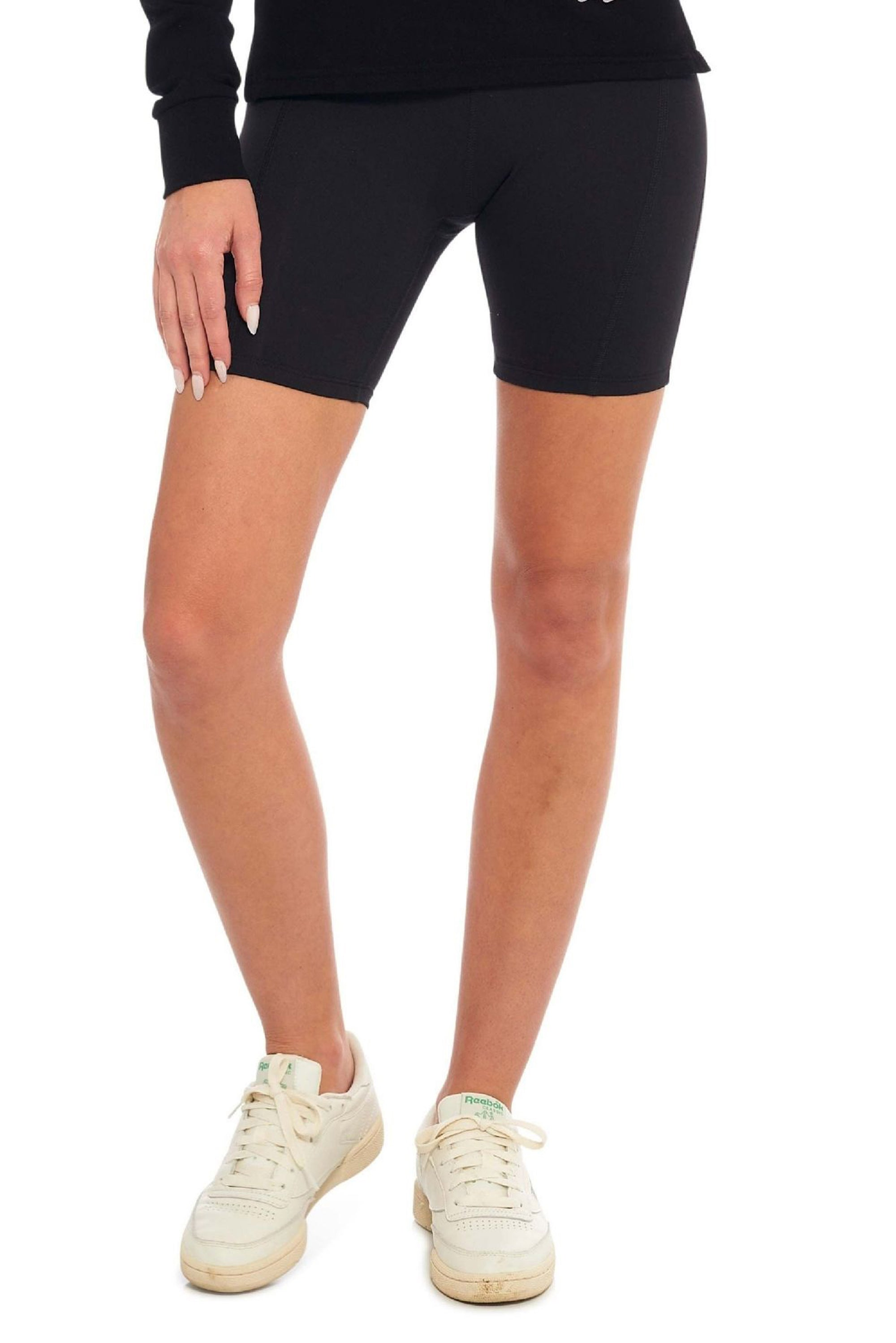 Ink Black Biker Short