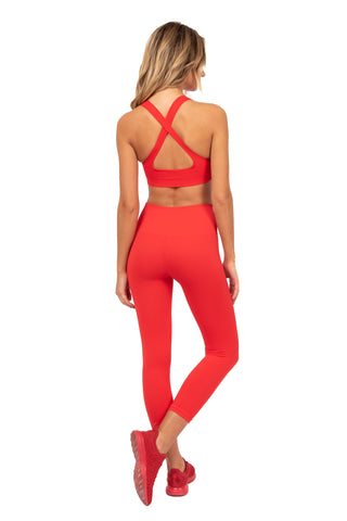 Electric Red Legging