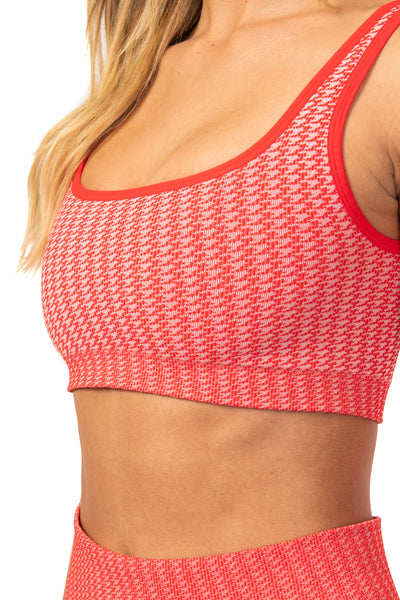 Hot Tamale Houndstooth Bra