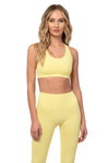 Pastel Yellow Sports Bra