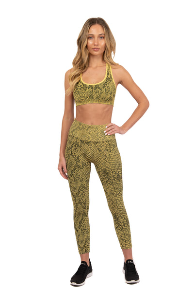Anaconda Snake Skin Sports Bra