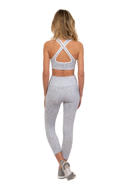 Gopher Snake Skin Sports Bra
