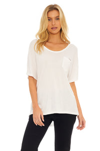 Load image into Gallery viewer, Touche White Oversized Tee