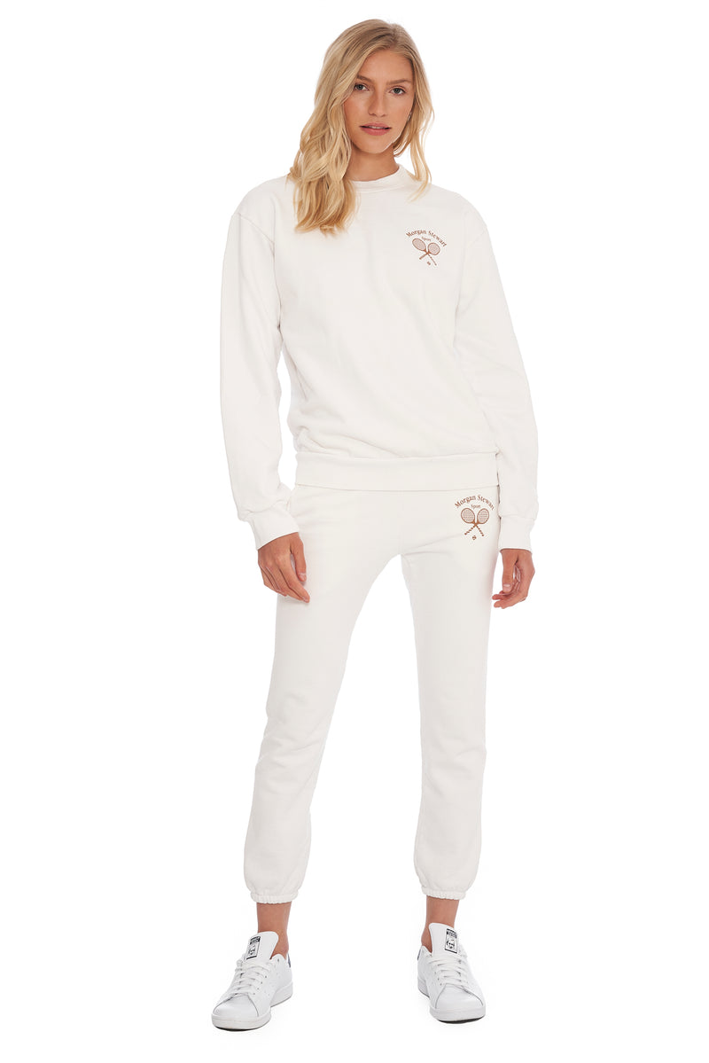 Tennis White Sweatshirt