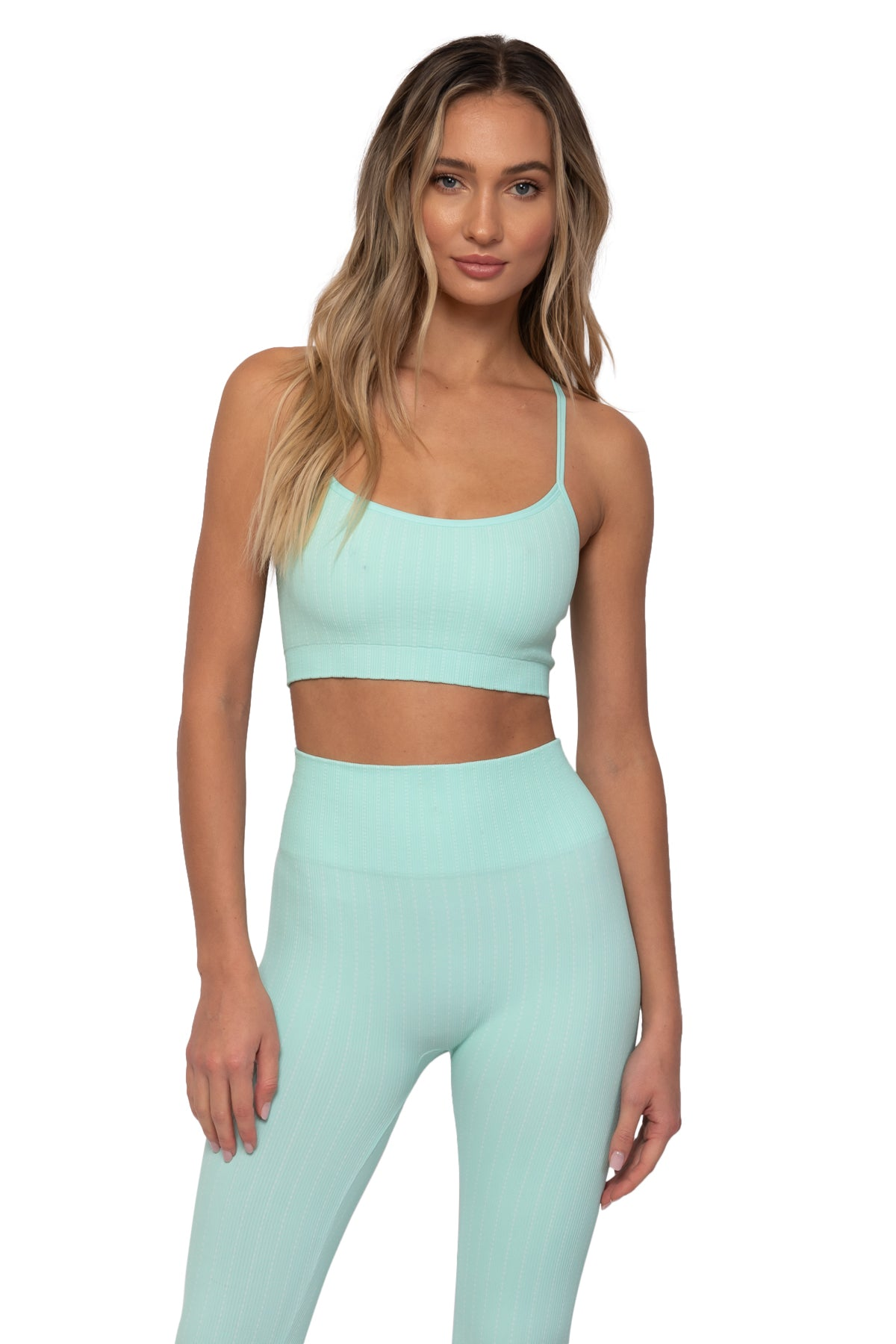 Seafoam Pin Stripe Bra