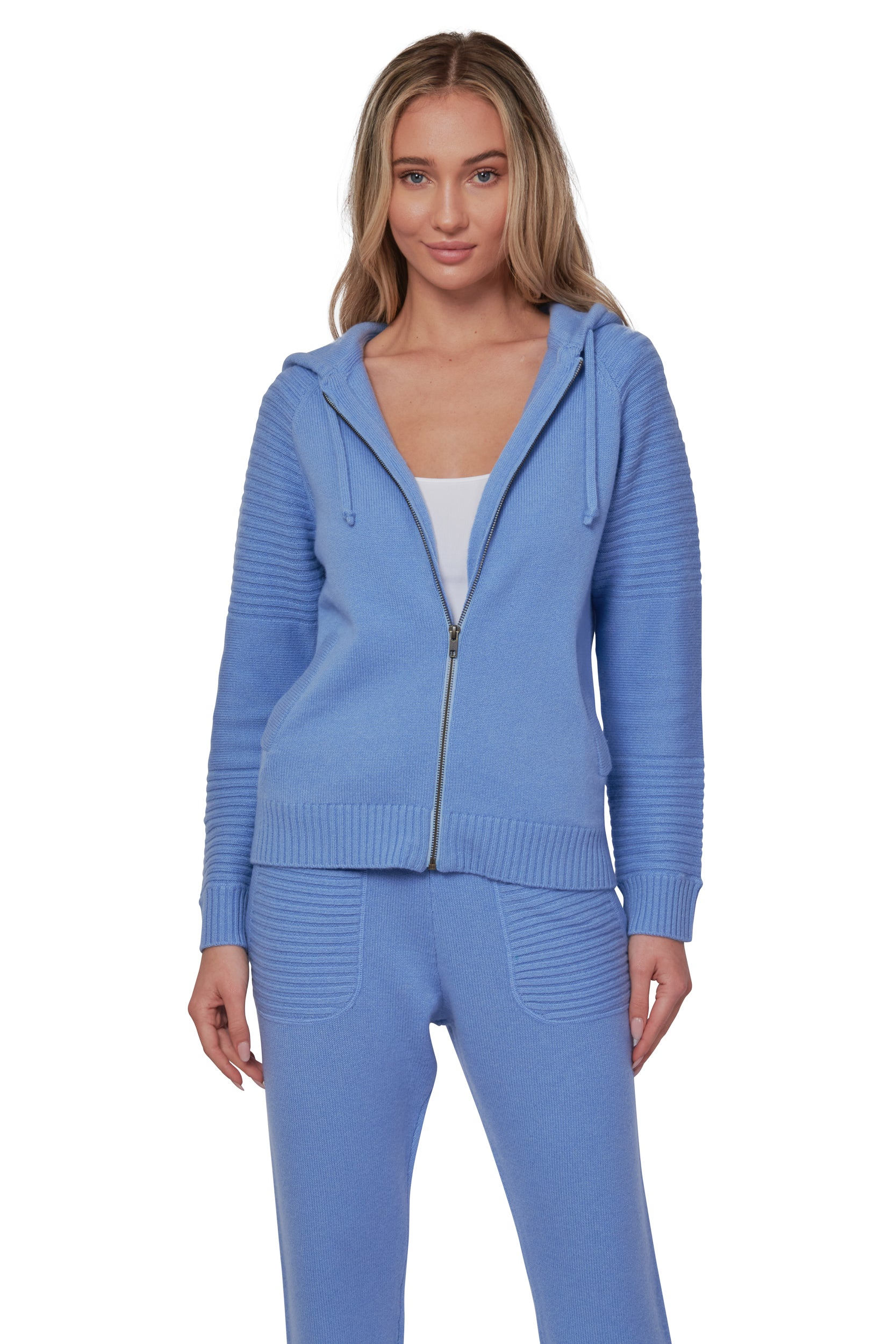 Periwinkle Cashmere Zip up