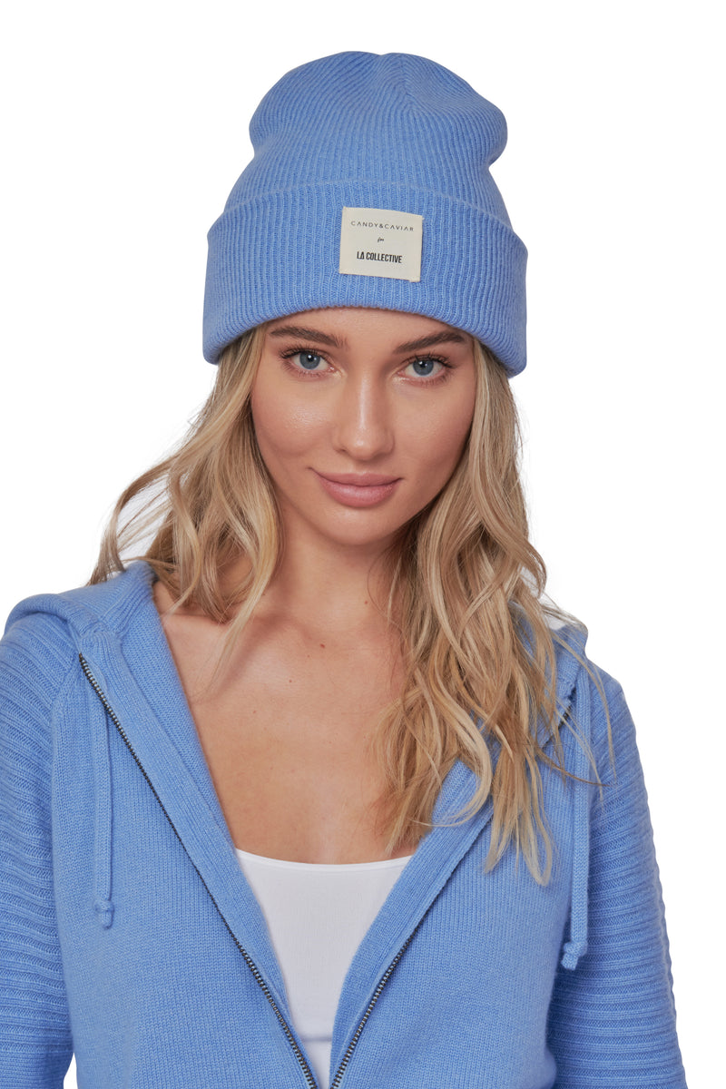 Periwinkle Cashmere Beanie