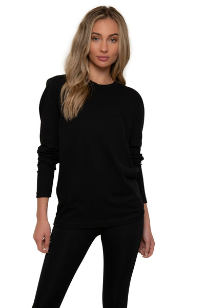 Logo Black Long Sleeve Tee
