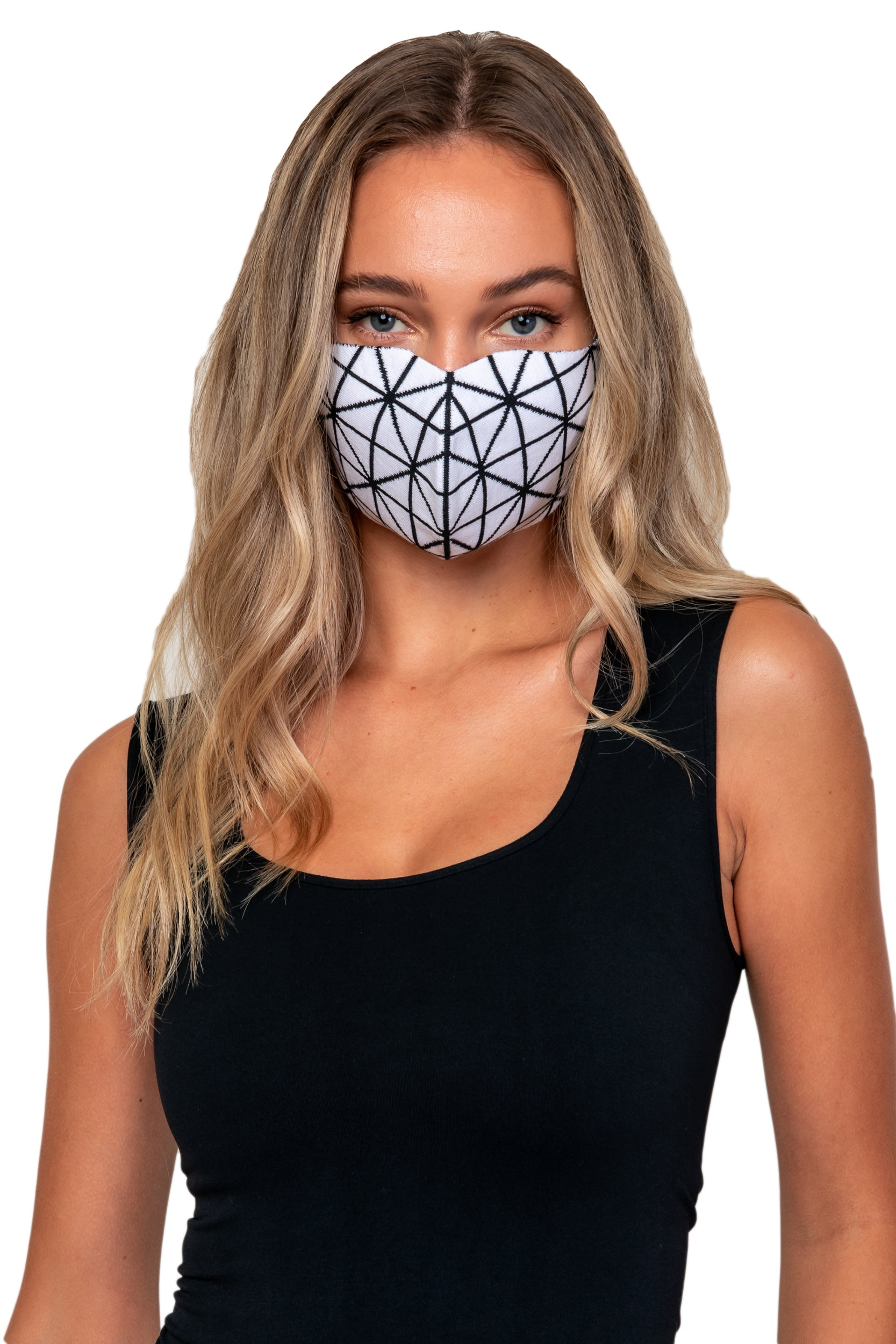 Onyx Jacquard knit reversible Mask