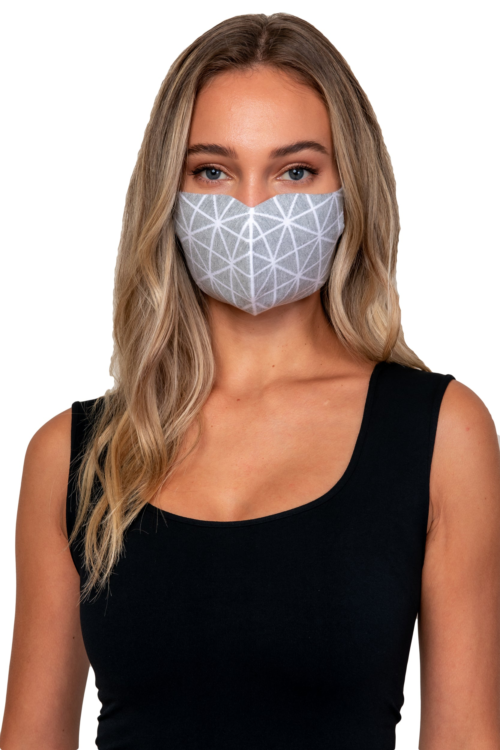 Snow Jacquard Knit Reversible Mask