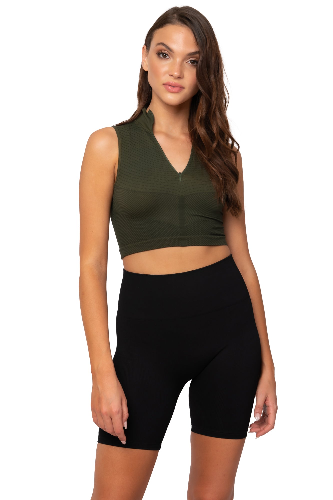 Lisa Crop Top (Olive)