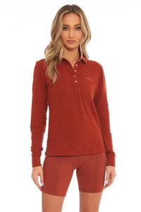 Load image into Gallery viewer, Sugar Almond Long Sleeve  Polo
