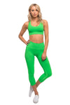 Jean-Michel Sports Bra Neon Green